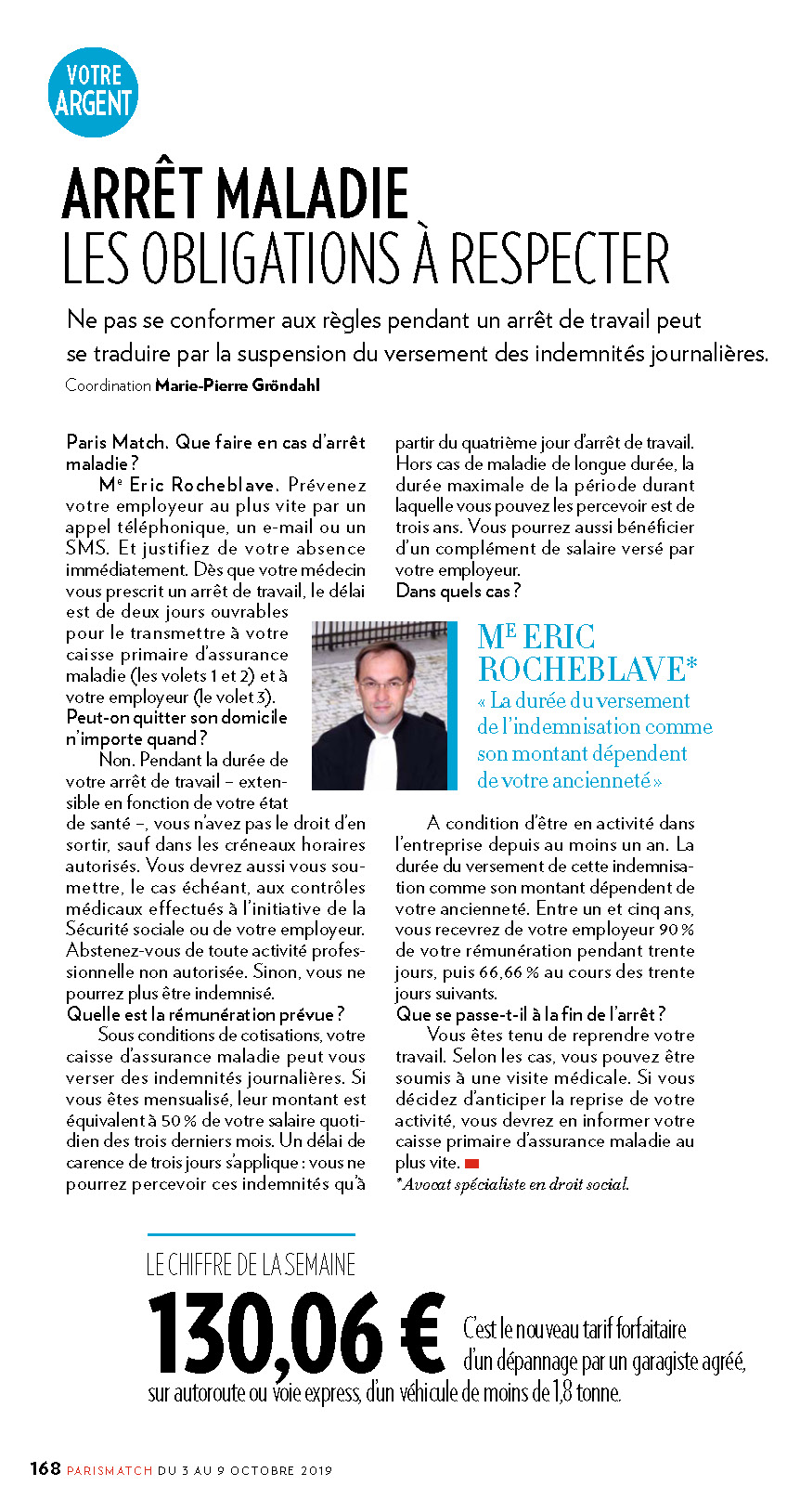 « ARRÊT MALADIE : LES OBLIGATIONS A RESPECTER » Interview MIDI LIBRE de Maître Eric ROCHEBLAVE