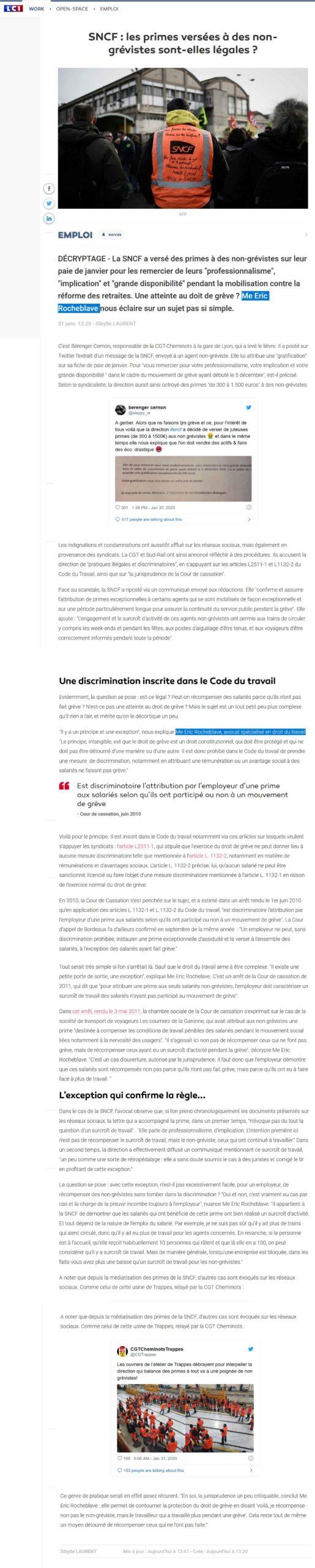 SNCF-primes-non-grévistes-légales