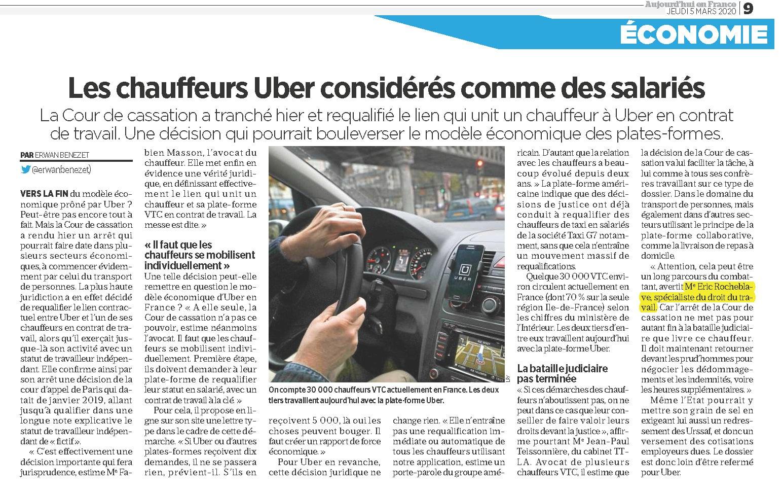 chauffeurs uber