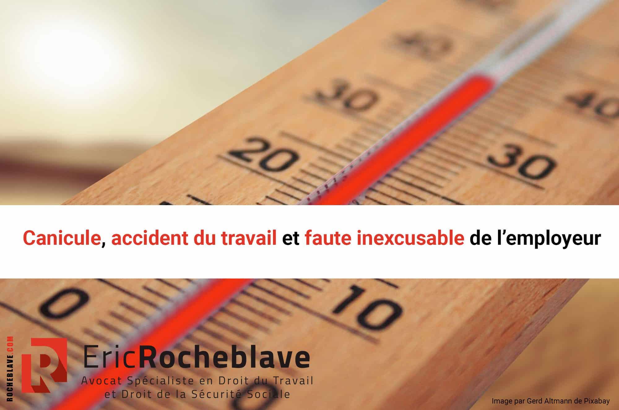 Canicule, accident du travail et faute inexcusable de l'employeur