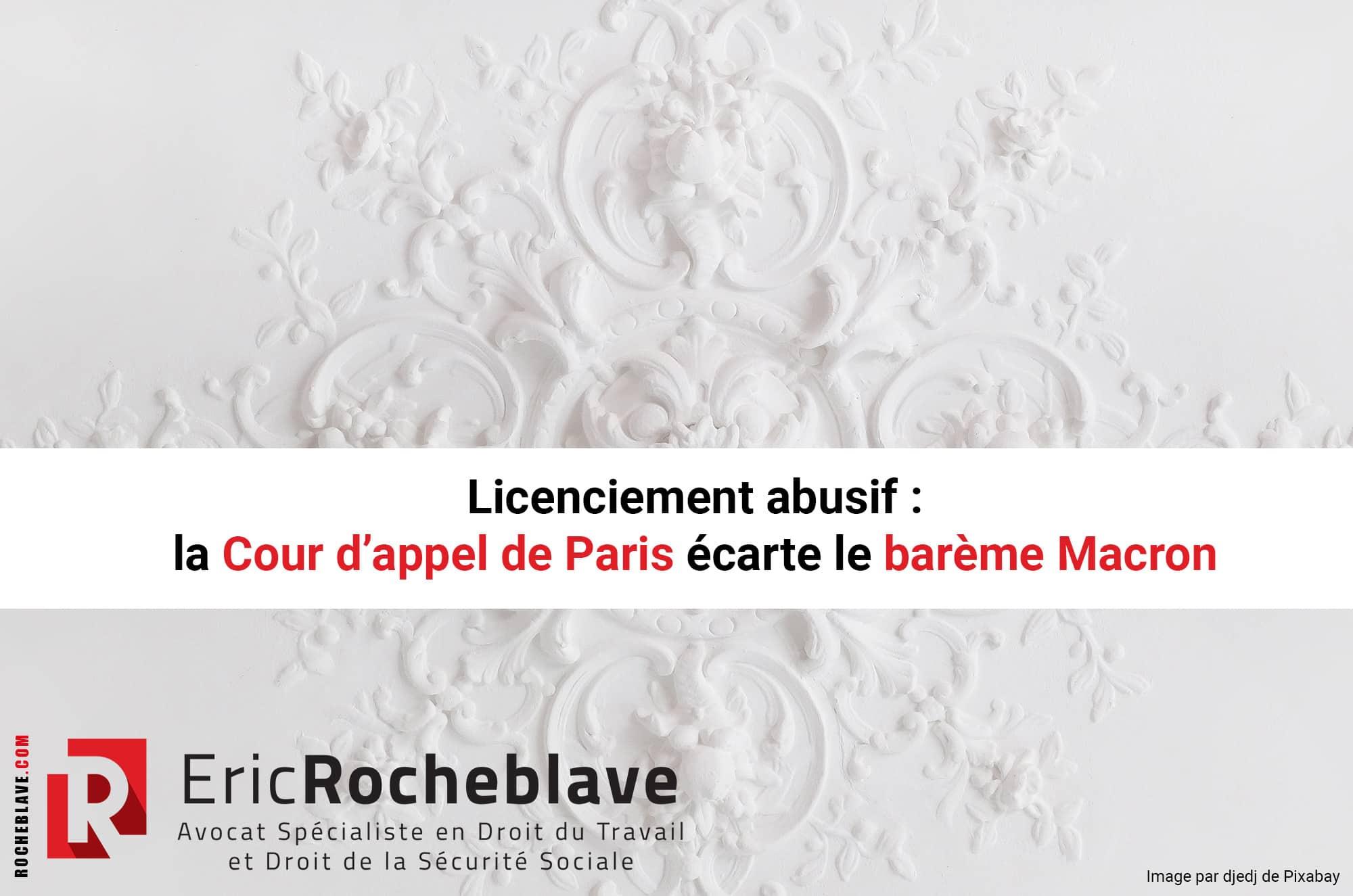 Licenciement abusif : la Cour d'appel de Paris écarte le barème Macron