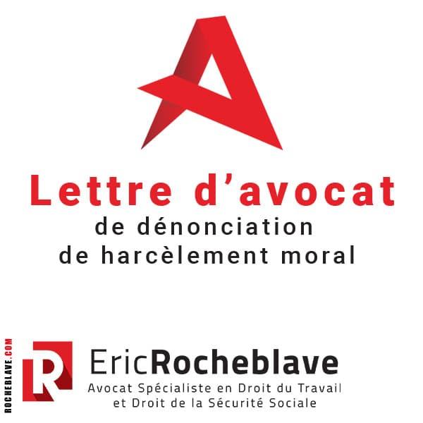 Lettre d'avocat de dénonciation de harcèlement moral