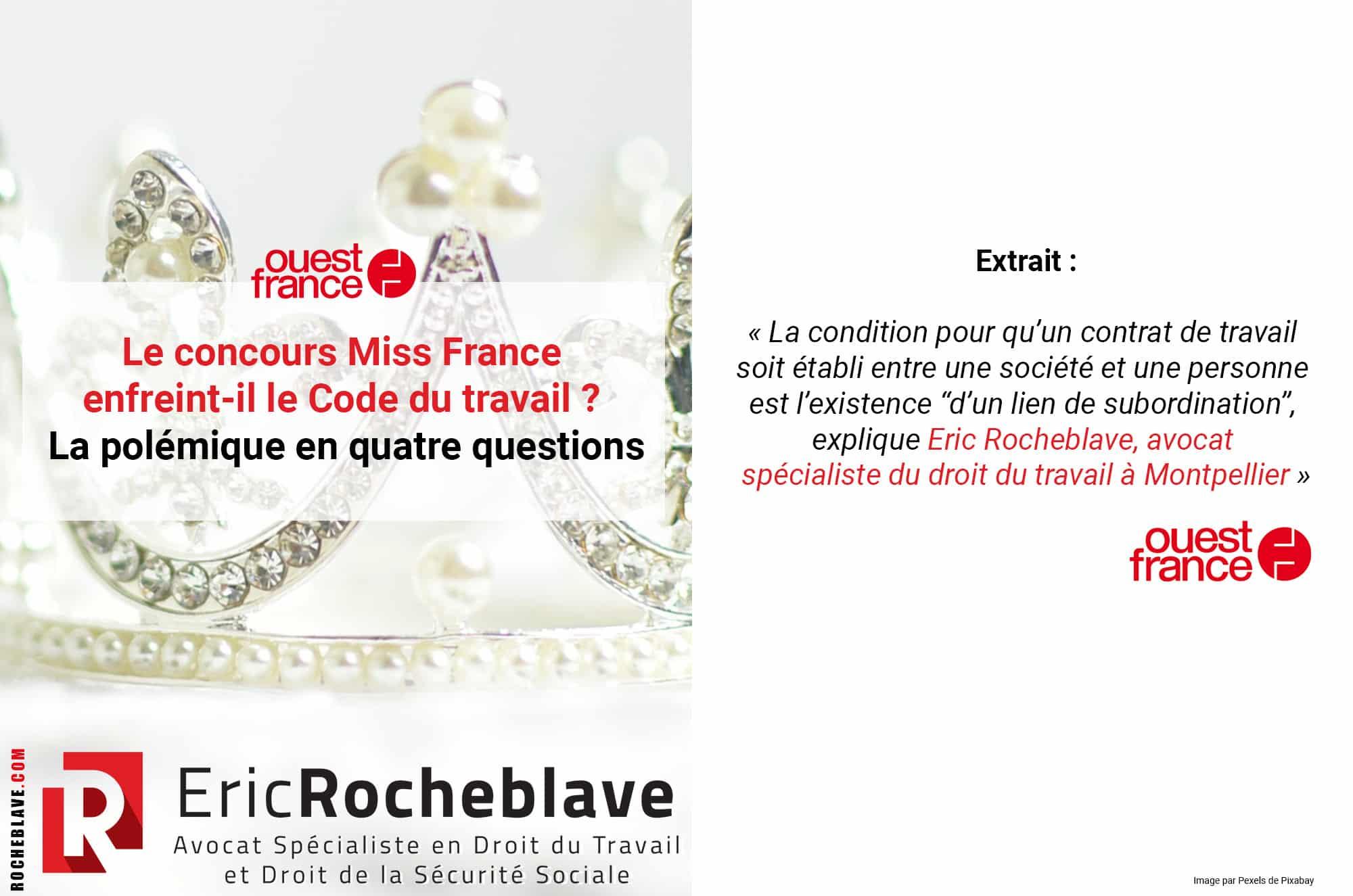 Le concours Miss France enfreint-il le Code du travail ? La polémique en quatre questions