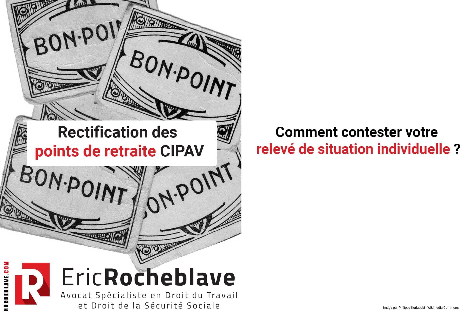Rectification des points de retraite CIPAV